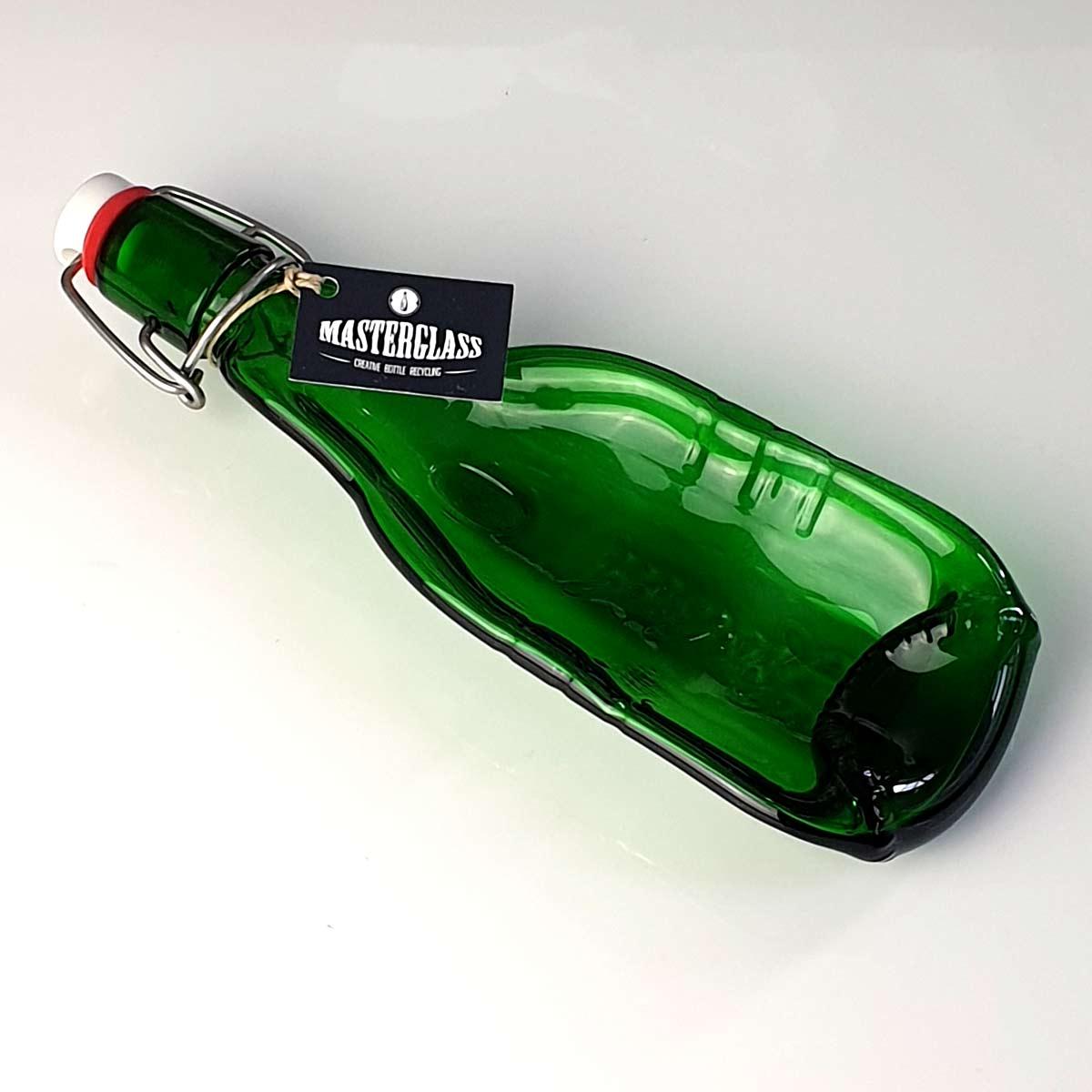Tot borrelplank gesmolten fles Grolsch