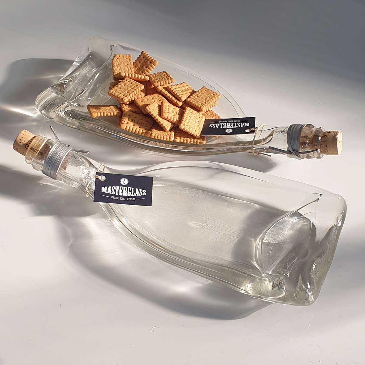 Tot borrelplank gesmolten fles Solo-Nocolor
