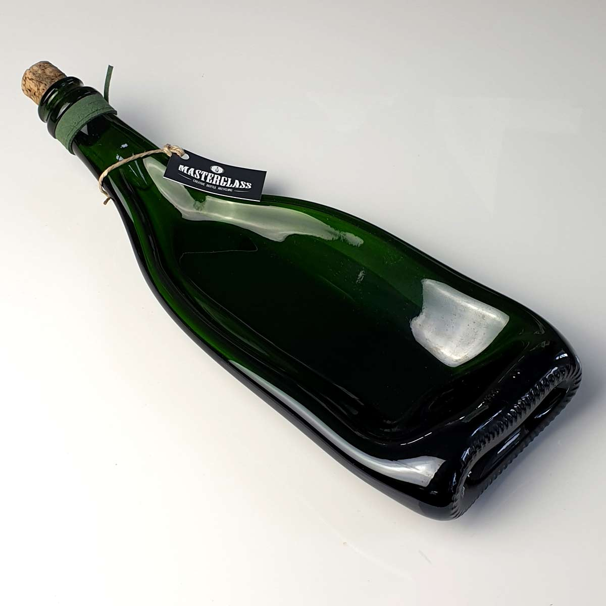 Tot borrelplank gesmolten fles Solo-Green