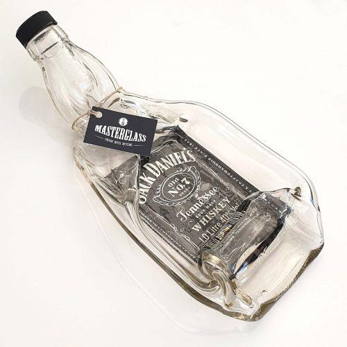 Tot borrelplank gesmolten fles Jack-Daniel's