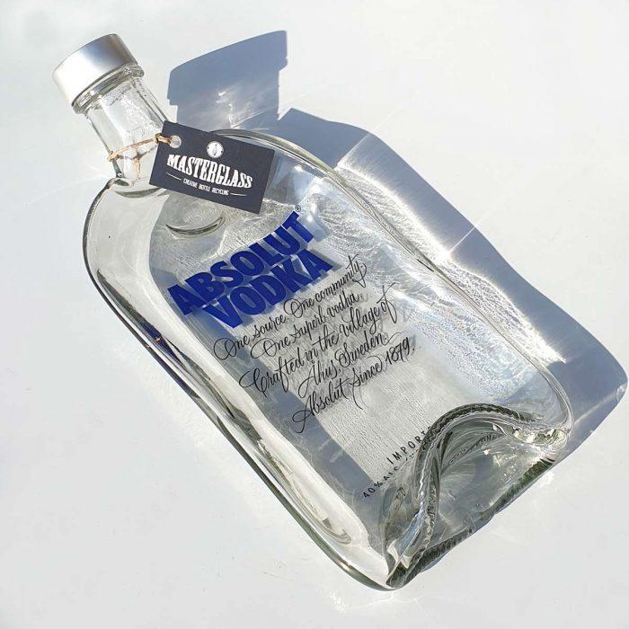 Tot borrelplank gesmolten fles Absolut