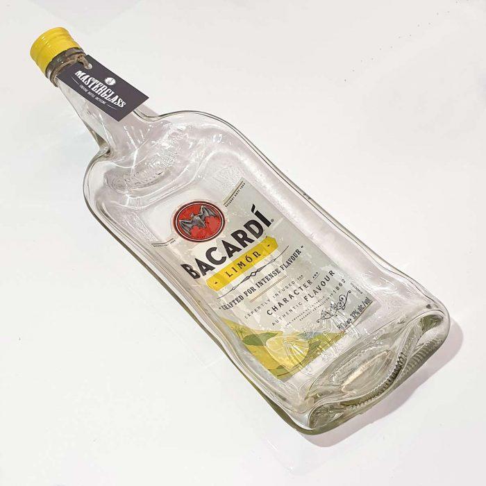 Tot borrelplank gesmolten fles Bacardi-Limon