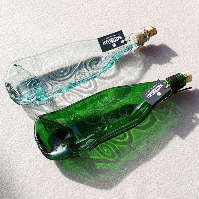 Tot borrelplank gesmolten fles Circle