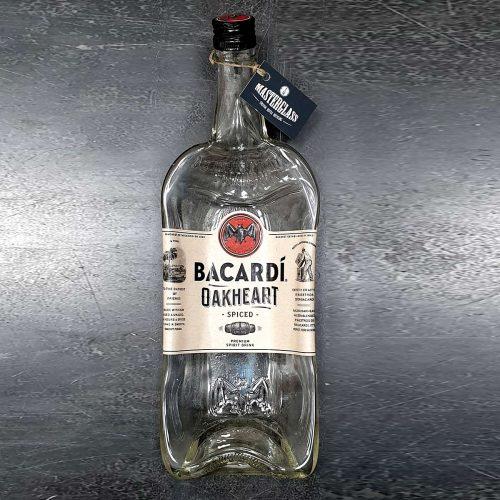Tot borrelplank gesmolten fles Bacardi-Oakheart