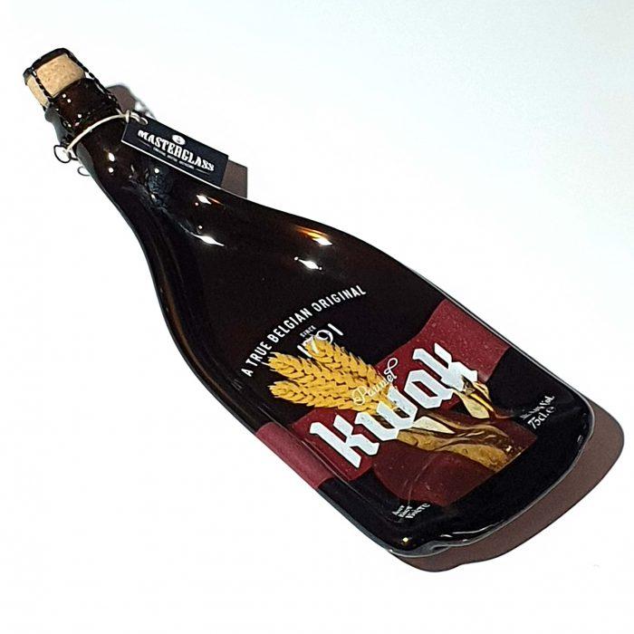 Tot borrelplank gesmolten fles Kwak